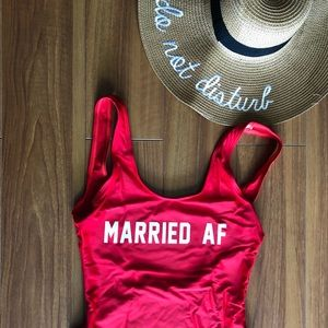 Married AF One Piece Swimsuit
